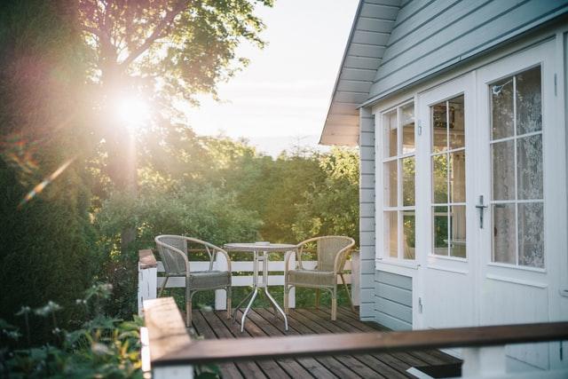 Leuke veranda overkapping